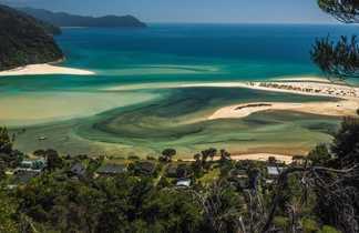 Paysage de la côte en Nouvelle Zélande
