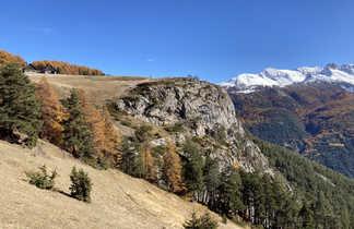 Paysage du Queyras en automne