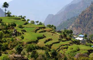 Paysages de la vallée de la Dudh Khosi, dans le Khumbu