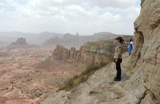 Paysages époustouflants dans le massif du Gheralta - église de Mariam et Daniel Korkor