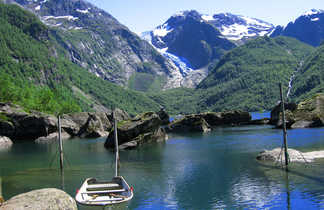 Paysages glacières du sud de la Norvège