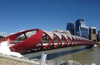 Peace bridge Calgary, Ouest Canada