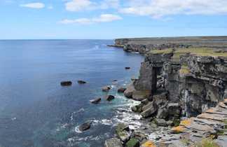 Falaises Inishmore Iles Aran Irlande
