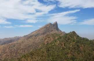 Pico de Antonia, sur l'île de Santiago au Cap Vert
