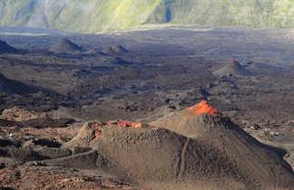 Vue sur le piton de la Fournaise, la Réunion