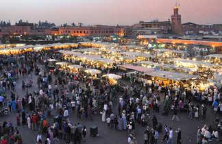 Place Jemaa el Fna à Marrakech, Maroc