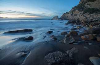 Plage de la côte basque espagnole