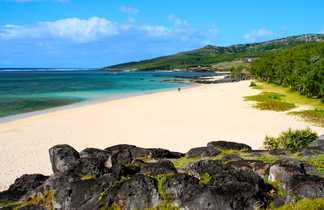 Plage de sable blanc à Rodrigues