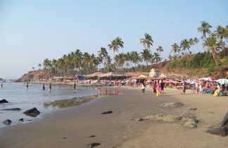 Plage de Vagator à Goa