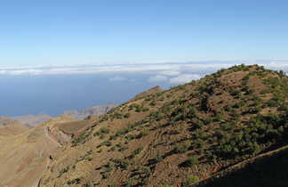 Plateau de Lagoa sur l'île de Santo Antao, Cap Vert