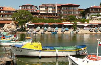 Port de Nessebar sur la Mer Noire en Bulgarie