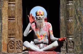 Portrait d'un sadhu en Inde