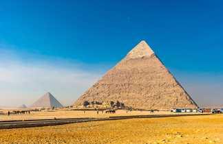 Pyramides de Guizeh, Le Caire, Egypte