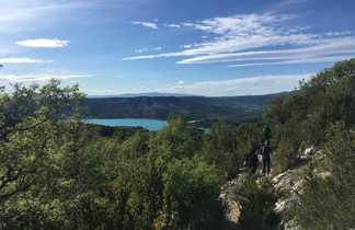 Randonnée au dessus de Moustiers avec vue sur le lac de Sainte Croix