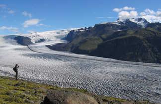 Randonnée à Skaftafell, vue sur le glacier