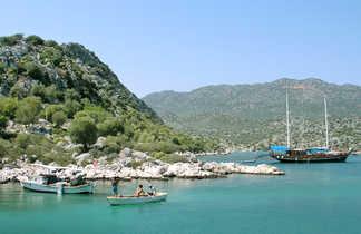 Randonnée bateau sur la côte lycienne en Turquie