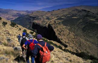 Randonnée dans les montagnes du parc national du Simien