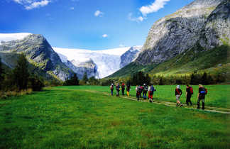 Randonnée en direction du glacier de Jostedal