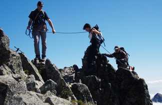 Randonneurs à l'assaut du Pic Gerlach, point culminant slovaquie