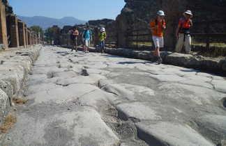 Randonneurs à Pompei