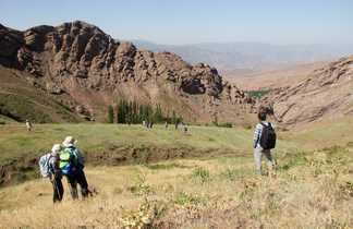Randonneurs dans l'Alborz au nord de l'Iran