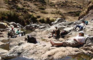 Randonneurs dans le parc national du Simien en Ethiopie