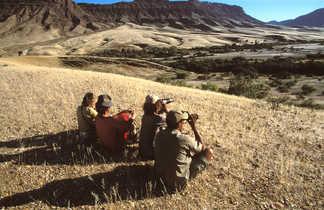 Randonneurs en Namibie