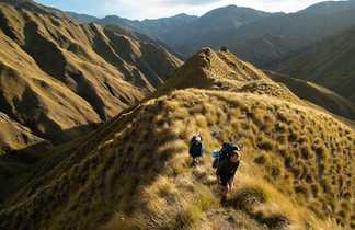 Randonneurs sur le sentier Te Araroa, Queenstown