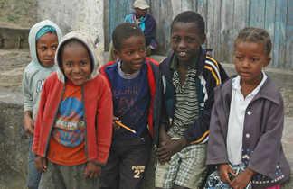 Rencontre avec des enfants au Cap Vert