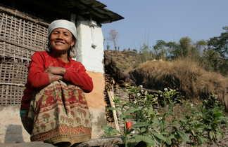 Rencontre dans un village de montagne au Népal