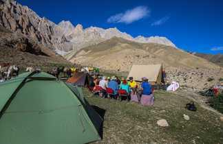 Repas au campement dans le Zanskar