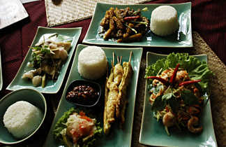 Repas typique du Cambodge