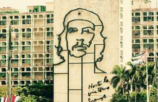 Représentation de Che Guevara sur un immeuble