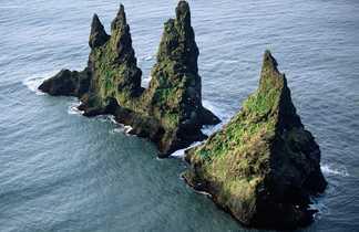 Aiguilles rocheuses de Vik, Sud de l'Islande