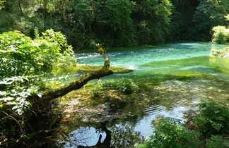 Rivière de la vallée de Shala dans le Nord de l'Albanie