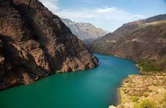 Rivière de Naryn Kirghizie