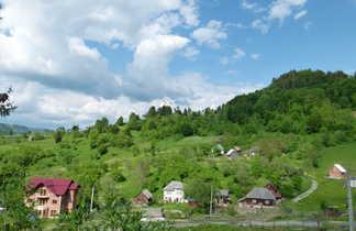 Roumanie, village traditionnel dans le  Maramures