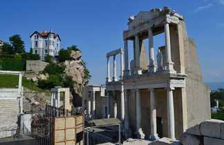 Ruines antiques de la ville de Plovdiv