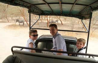 Safari en jeep dans la réserve de Bandia au Sénégal