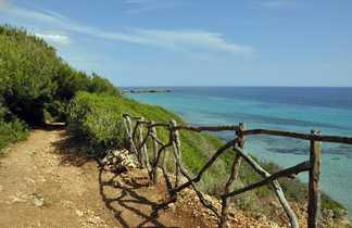 Sentier Plage Ile Minorque Baleares
