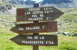 sentier de randonnée du massif du Viso, Alpes du sud