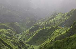 Serra Malagueta, réserve verte de l'île de Santiago au Sud du Cap Vert