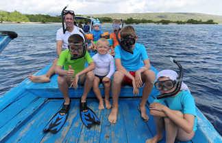 Snorkeling à Bali avec les enfants