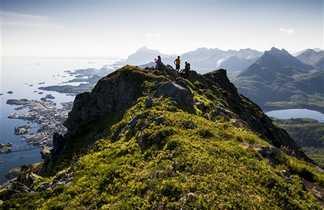 Sommet du Rundfjellet dans les îles Lofoten