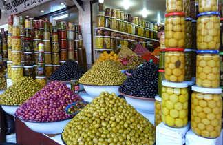 Souk aux olives, Marrakech, Maroc