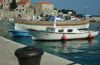 Sumartin, port de l'île de Brac, Croatie