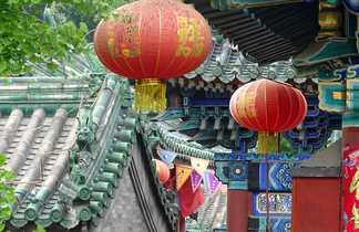 Un temple dans le centre ville de Pékin