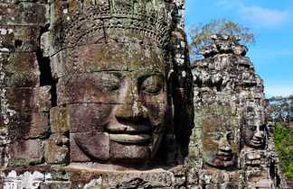 Temple du Bayon, Angkor, Cambodge.