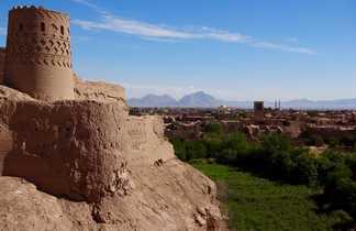 Tour du fort du château de Narin dans la ville de Meybod