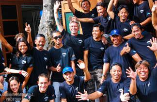 Toute l'équipe vous attend au centre de plongée à Bali!